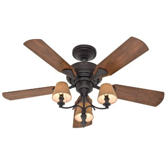 Hunter ceiling fans parts accessories repair and more at hunter fan company 28703 newstead 46 inch 5 blade 3 light ceiling fan aloadofball Gallery
