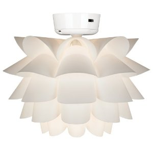 Replacing and changing the bulbs in a ceiling fan light kit how to white flower ceiling fan light kit mozeypictures Image collections
