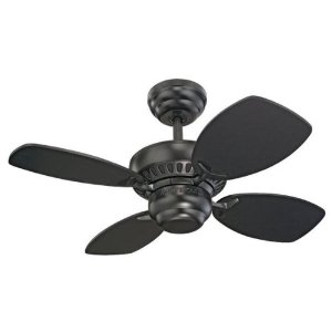 Monte Carlo Matte Black Ceiling Fan